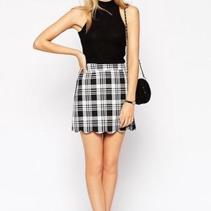 ASOS Scalloped Plaid Skirt *Used*